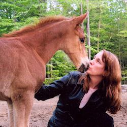 Ellen Feld with Annie